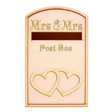 Wedding Post Box Heart Design - Opening Wooden 3mm MDF Party - Flat Pack